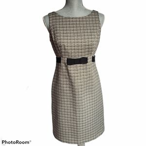 Jones & Co Sleeveless Fitted Tweed Dress Size 4